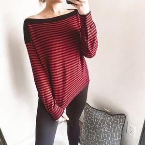 everlane - the soft cotton stripe sweater boatneck